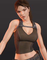 Lara Croft 3DS Render 2 by x2gon