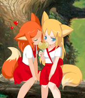 Pixel: Aika and Mika by Oceanmermaid