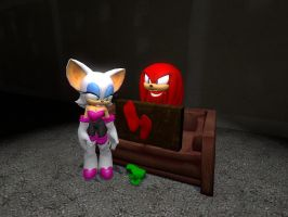Knuckles is in Trouble by wantwon