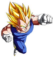 Ssj 2 Vegeta - DBZ Movie #13 v.2 by nMINATO