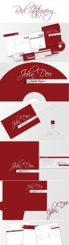 Red Full Stationery by dimplegal