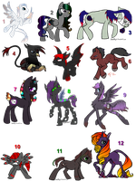 Music Themed MLP adopts! {OPEN} Page 2 by pokebugggirl