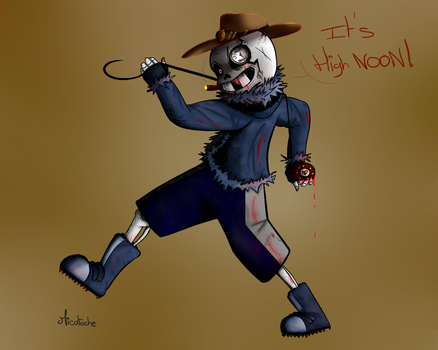 QuantumScare Sans - HighNoon Version (ArtTrade) by MicatocheLaBrioche