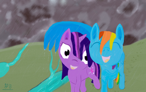 Caught in the Rain by HalflingPony