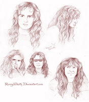 Dave Mustaine Sketches by RonnySkoth
