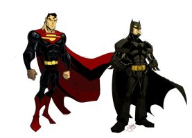 Superman Batman by jeffagala