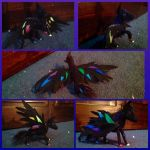 Neon Pegasus posable Art doll by coldfang22