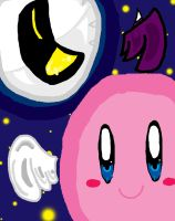 Kirby and Meta Knight by KirbyCupcake