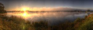 Sunrise over forman pond by kriza