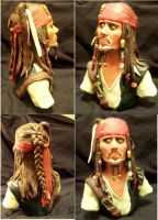 Jack Sparrow Finished bust by bam19916