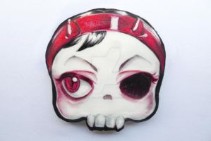 halloween chocolate cookie skull devil by ALI-MALBICHO