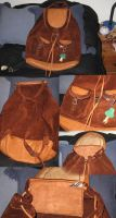 leather bag-rucksack-knapsack by Aranglinn
