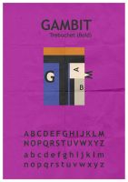 Gambit Typeface by mattcantdraw