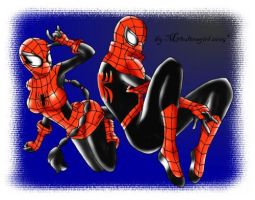 Spider-Man n Spider-Woman by YestherDey