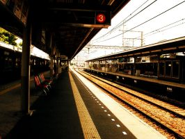 Train station in Osaka by kazenokibou