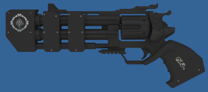 Black Steel Revolver by Sway32