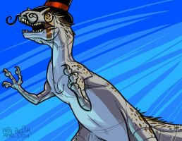 Dastardly Allosaurus by breakbot