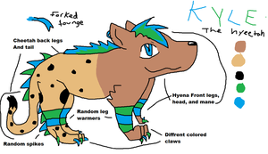 Kyle the Hyeetah, REFRENCE by Demonthewolf456789