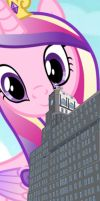 Princess Cadence towers over by OceanRailroader