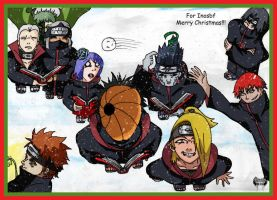 Akatsuki Christmas Carolers by l3xxybaby