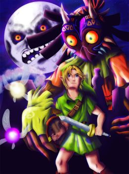 -Time is running out- Majora's Mask Fanart by KioRaka