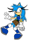 Destiny The Hedgehog With New SA Style by Destiny-The-Hedgimon