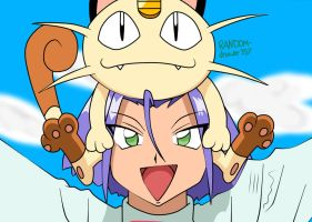 James And Meowth by RANDOM-drawer357