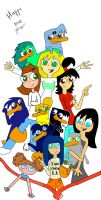 Main picture of the group. (Phineas and Ferb: r... by Grey-Sweet