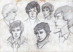 Sketch Book: Sherlock by K9Darkice