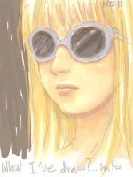 sunglasses blonde by herhuahed