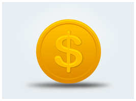 Coin-us-dollar by customicondesign