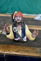 Jack Sparrow Sculpt by louisesaunders