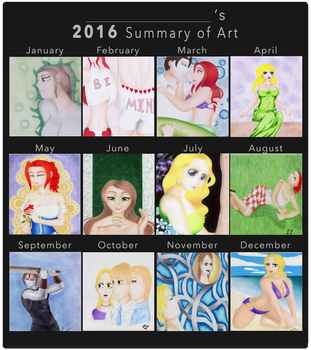 2016 Summary of Art by Terrathefox