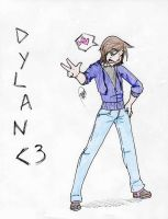 Dylan's Super-Gay Pose by x-steve-x