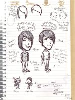 Tegan and Sara Doodle Dump 1 by maleth