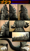 Close ups on Custom Neca 1984 Godzilla by TITANOSAUR