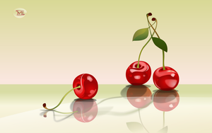 Composition with cherries by IvaIff
