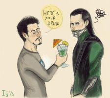 The Avengers - That famous drink by Ramble-17