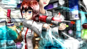 Water War in Silom - Okabe Kurisu Fun by Anomonny