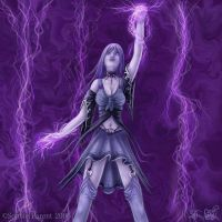 Lightning summoner by Sanguinae