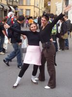 Two idiots at Lucca Comics by VovaNinja