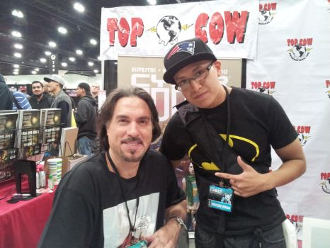 Me and Marc Silvestri @Stan Lees Comikaze 2013 by SWAVE18