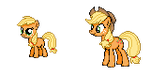 Applejack - Past and Present Sprite by Kevfin