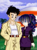 Yamcha and Lily_request by Pixie-van-Winkle