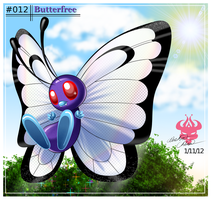 ::012- Butterfree:: by Bowser2Queen