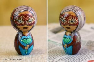 Carnival Kokeshi Custom Doll by ZanetaGc