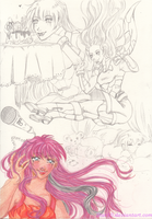 Humanized Fallingstar sketches by Star10