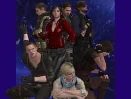 Resident evil 6 characters by Nirwashi