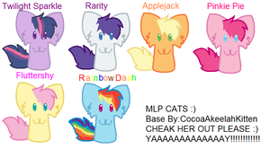 MLP CATS! by ColorsthePegasus