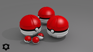 [3D] Pokeball by LiberiArcano